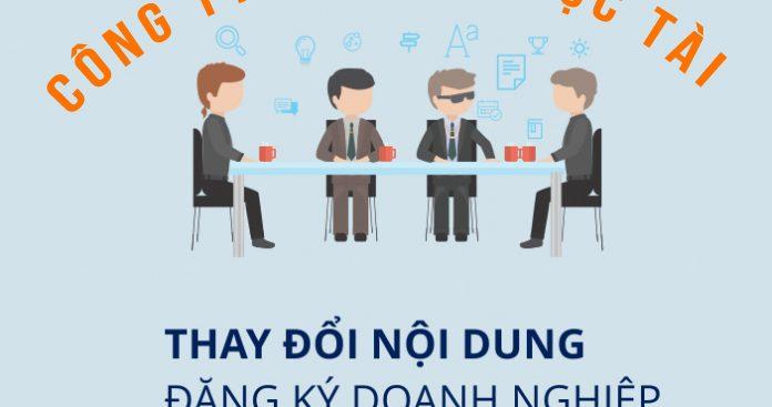 Thay doi giay phep kinh doanh