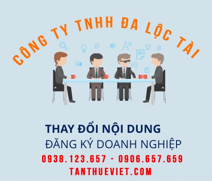 Thay đổi giấy phép kinh doanh quận Phú Nhuận