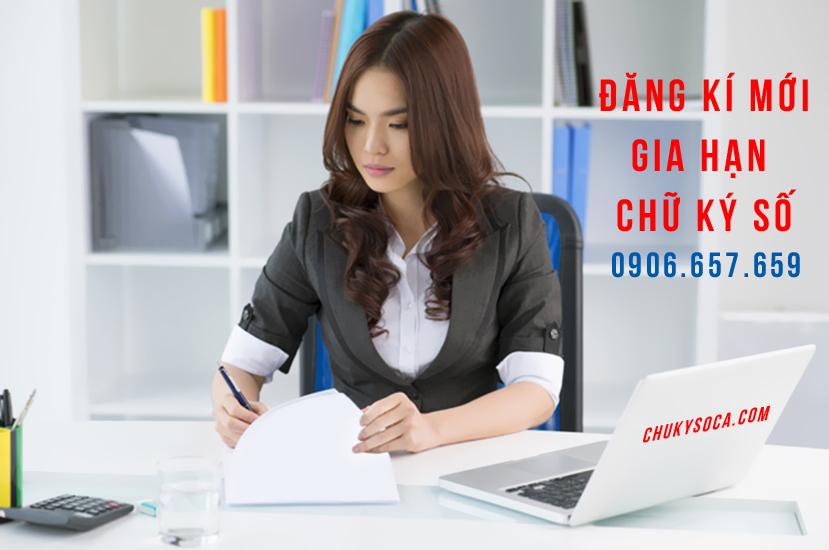 Đăng kí mới chữ ký số tại Công ty TNHH Đa Lộc Tài