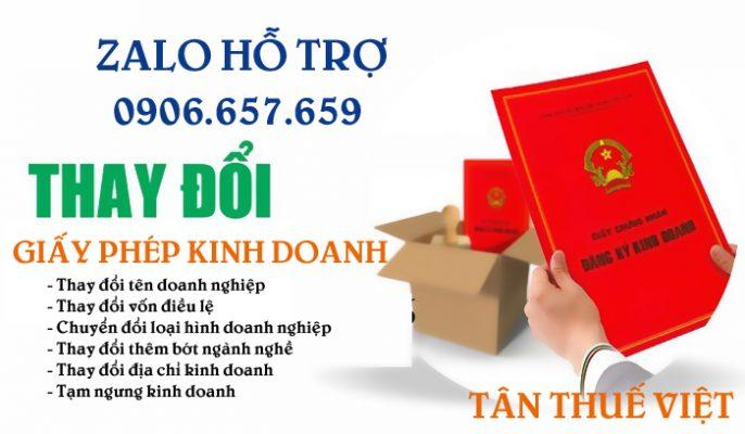 Dịch vụ thay đổi giấy phép kinh doanh uy tín và nhanh chóng từ Tân Thuế Việt